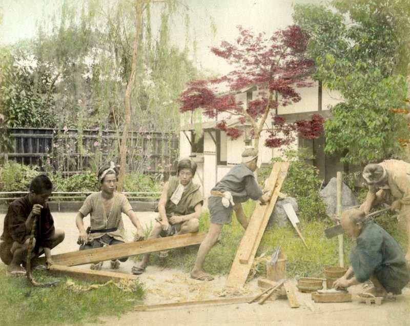 Japanese carpenters