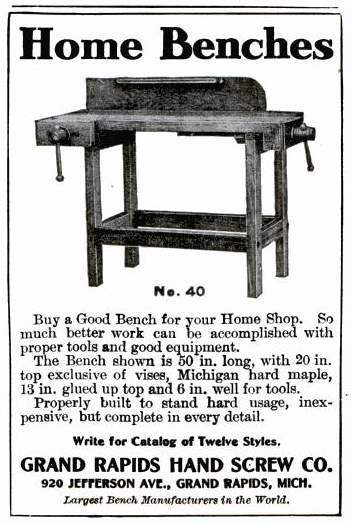 old ad for a work bench