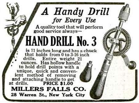 old ad for a Millers Falls drill