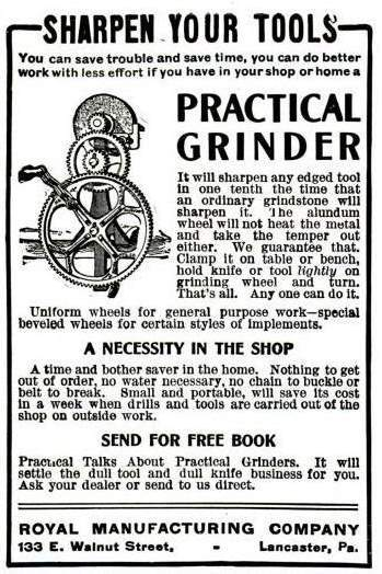old ad for a Royal grinder