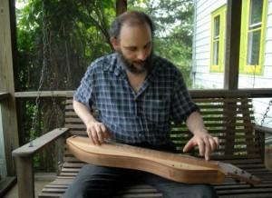 Doug Berch playing dulcimer