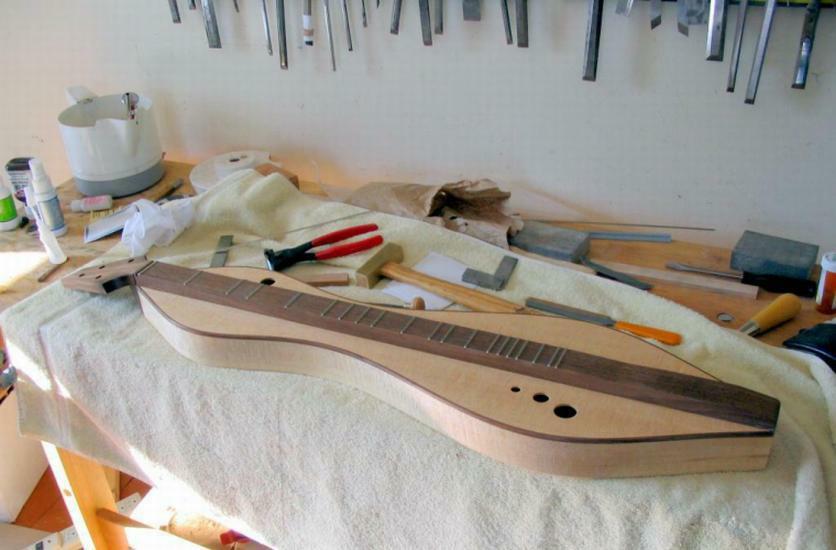 dulcimer and fretting tools