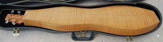 Doug Berch dulcimer #50 circa 1981 - back