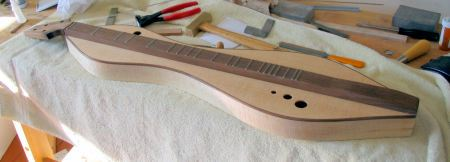 A freshly fretted dulcimer by Doug Berch On Line Fret Placement Calculators