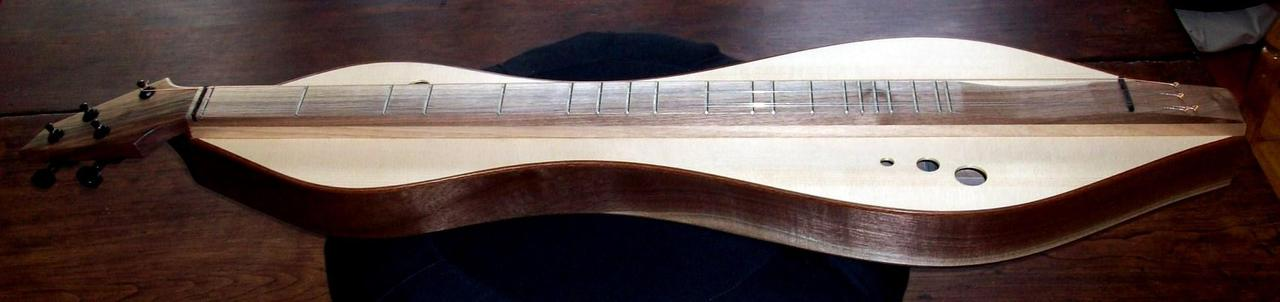 Dulcimer with Adirondack spruce sounboard and walnut back and sides by Doug Berch
