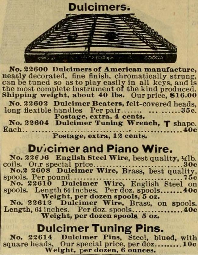 Hammered Dulcimer For Only $16.00 - Circa 1898