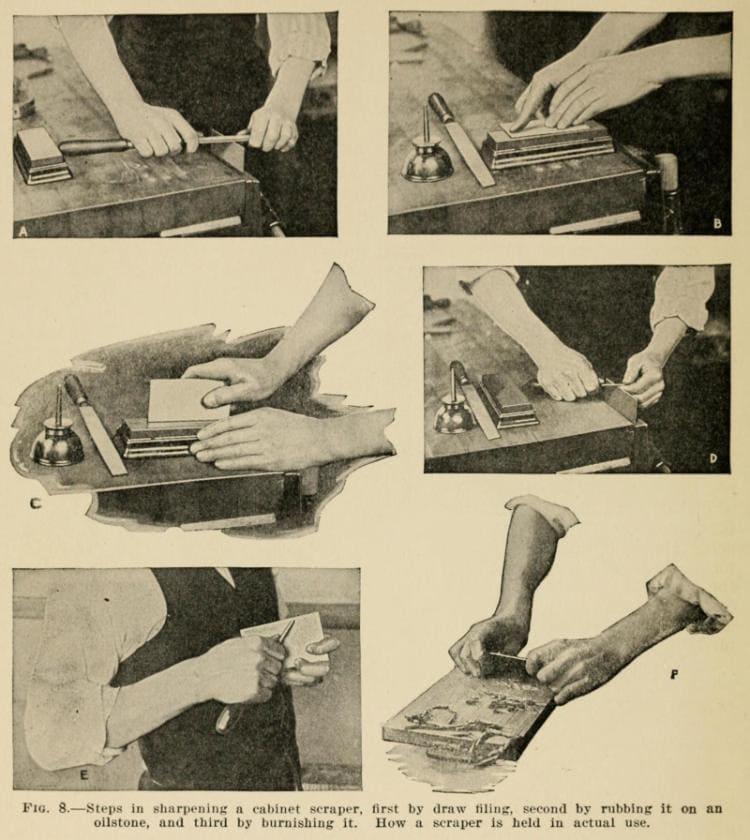 Steps In Sharpening A Cabinet Scraper