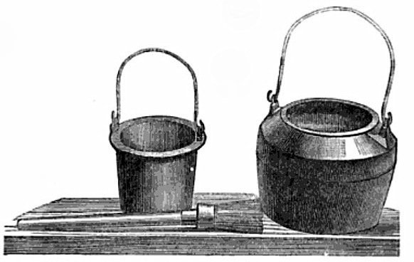 Traditional glue pot and brush