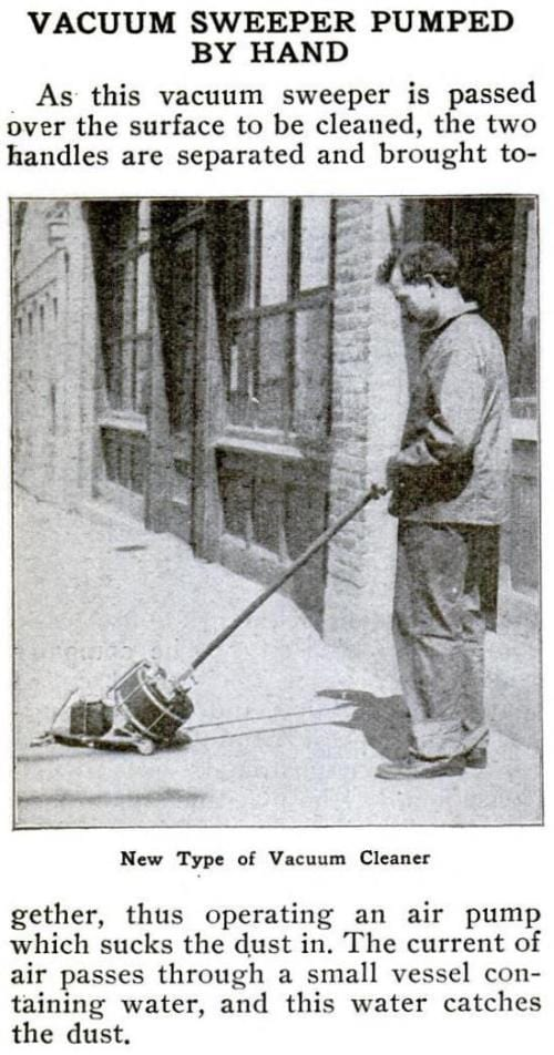 Vacuum Sweeper Pumped By Hand (1905)