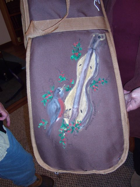 Dulcimer Case hand painted by Marge Diamond