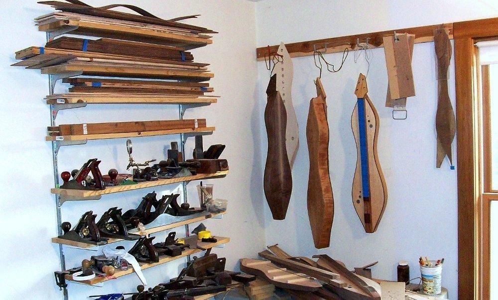 Still Life If A Dulcimer Maker's Shop