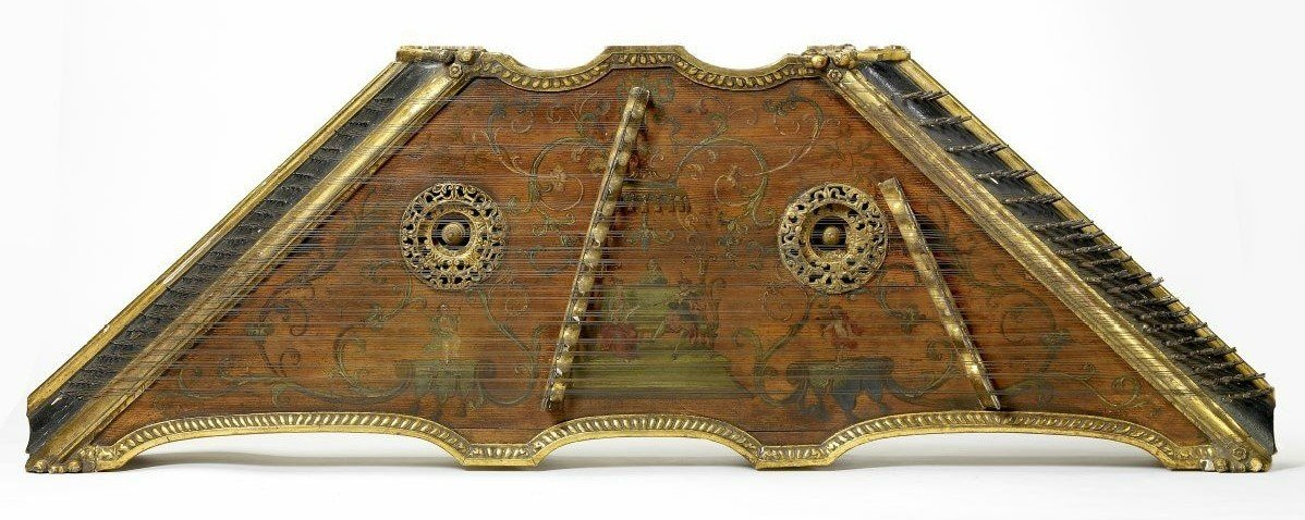 Tympanon or hammered dulcimer by an anonymous French maker circa 1720