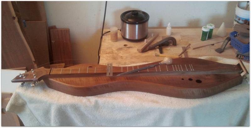 Giving myself and my dulcimer some much needed TLC.