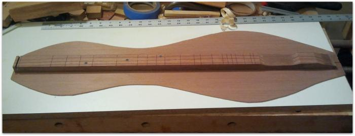 Redwood dulcimer soundboard in progress Whats On The Bench   01/22/2014