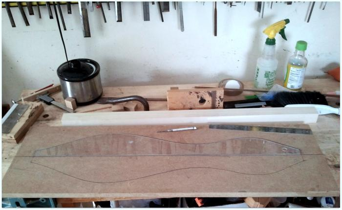 Shaping up a dulcimer shape