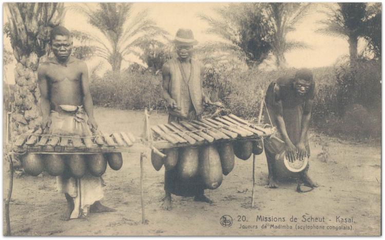 Congolese musicians two marimbas and drum Music Id Like To Hear #73