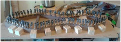 Gluing in the kerfing Whats On The Bench   9/9/2014