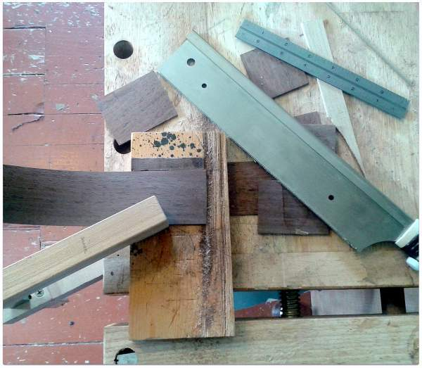 Sawing dulcimer sides to length Whats On The Bench   9/9/2014