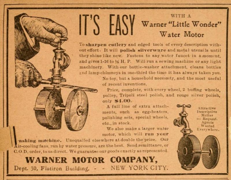 "Warner ""Little Wonder"" Water Motor"