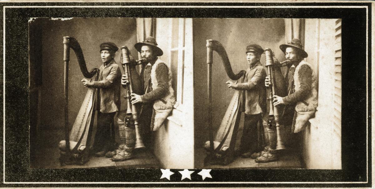 Zampogna and harp duo