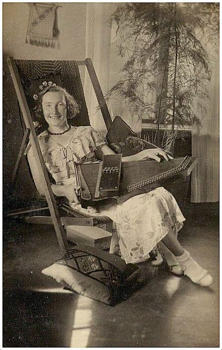 Woman with autoharp