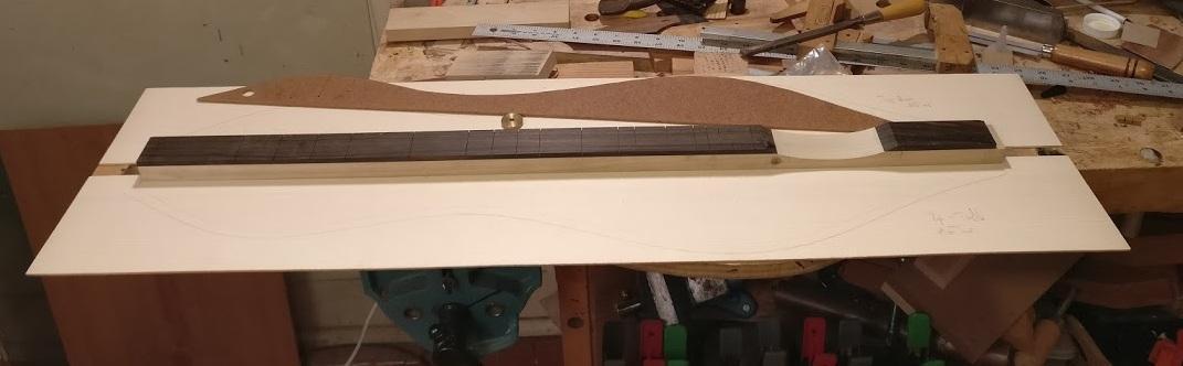 Bartione dulcimer soundboard layout